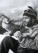 Lionel Terray en la expedición Fritz Roy