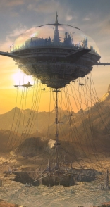 Flying city - 'Horizon' - M. Forrett