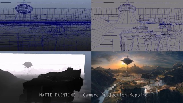 Mickaël Forrett - Matte painting technics for Horizon I